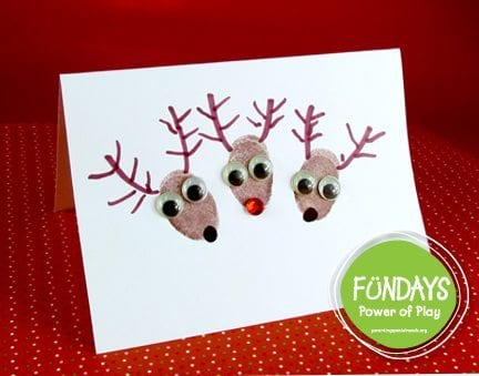 Fingerprint Reindeer Cards Fun And Functional Parenting Special