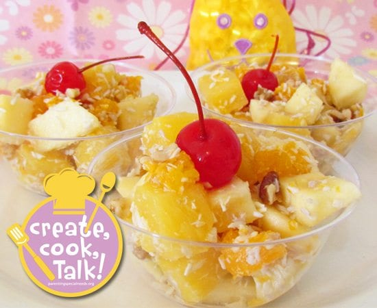 Cooking with Kids: Healthy Ambrosia Fruit Salad Dessert