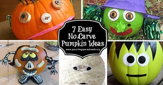 7 Easy No-Carve Pumpkin Decorating Ideas - Parenting Special Needs Magazine & 7 Easy No-Carve Pumpkin Decorating Ideas - Parenting Special Needs ...