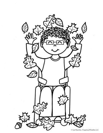 special needs coloring pages - photo#23