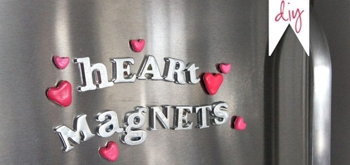 DIY Valentine Craft: Heart Magnets